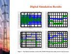 digital simulation results110
