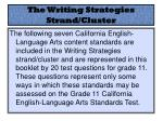 the writing strategies strand cluster