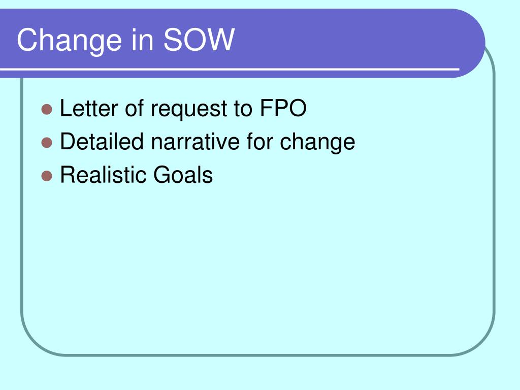 Change in SOW
