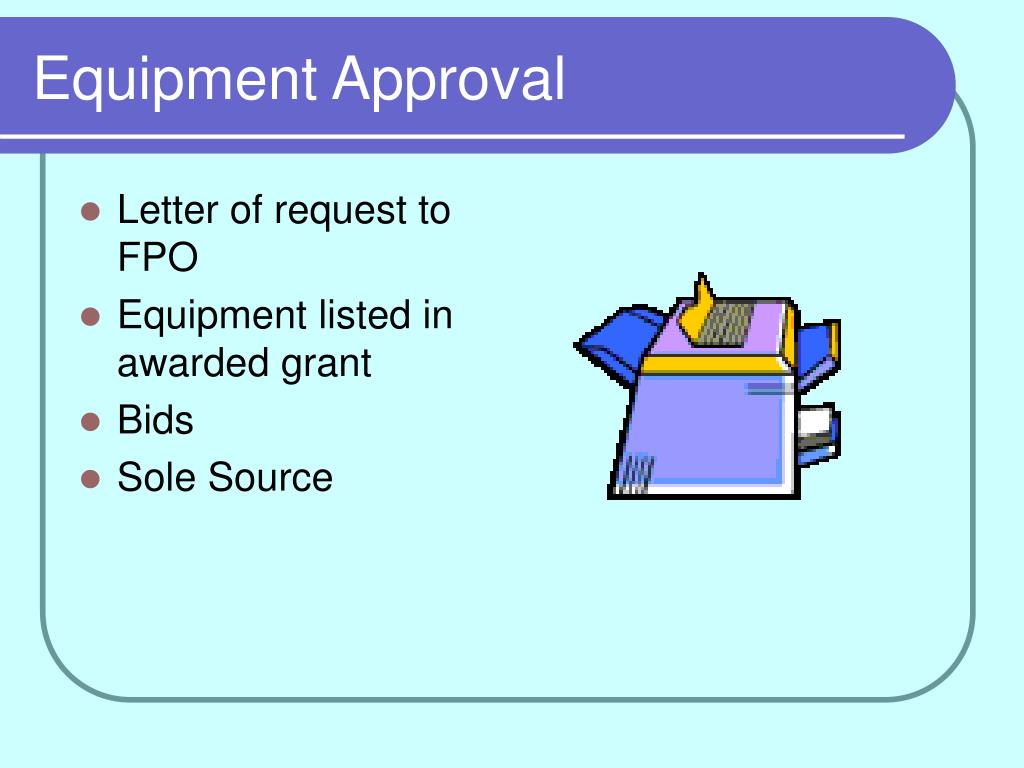 Equipment Approval