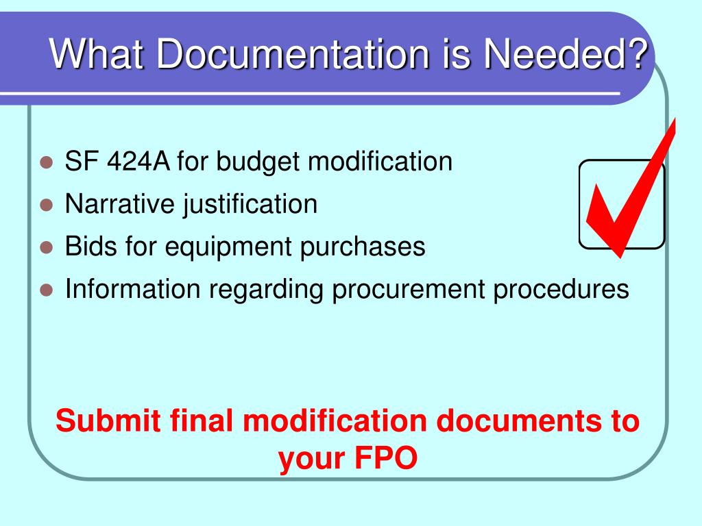 What Documentation is Needed?