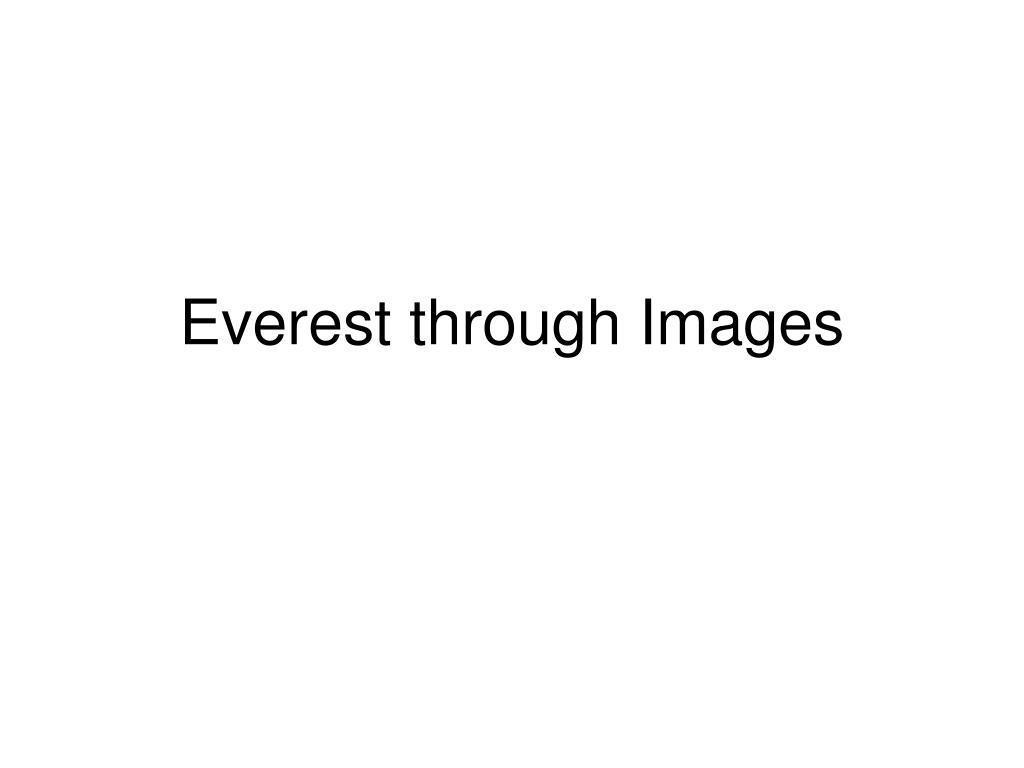 Everest through Images