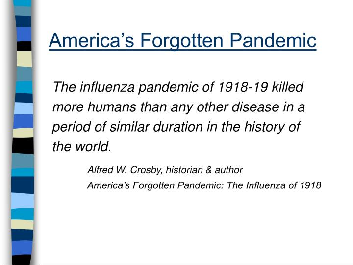 revelation of the influenza pandemic of 1918