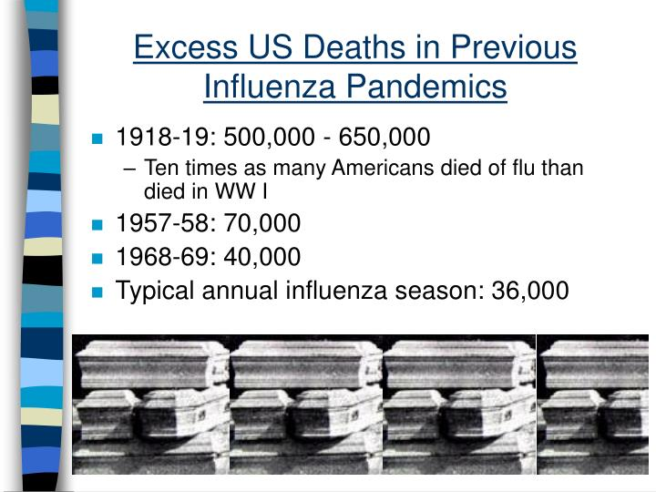 Excess US Deaths in Previous Influenza Pandemics