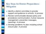 key steps for district preparedness mitigation