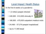 local impact health status