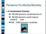 pandemic flu morbity mortality