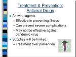 treatment prevention antiviral drugs