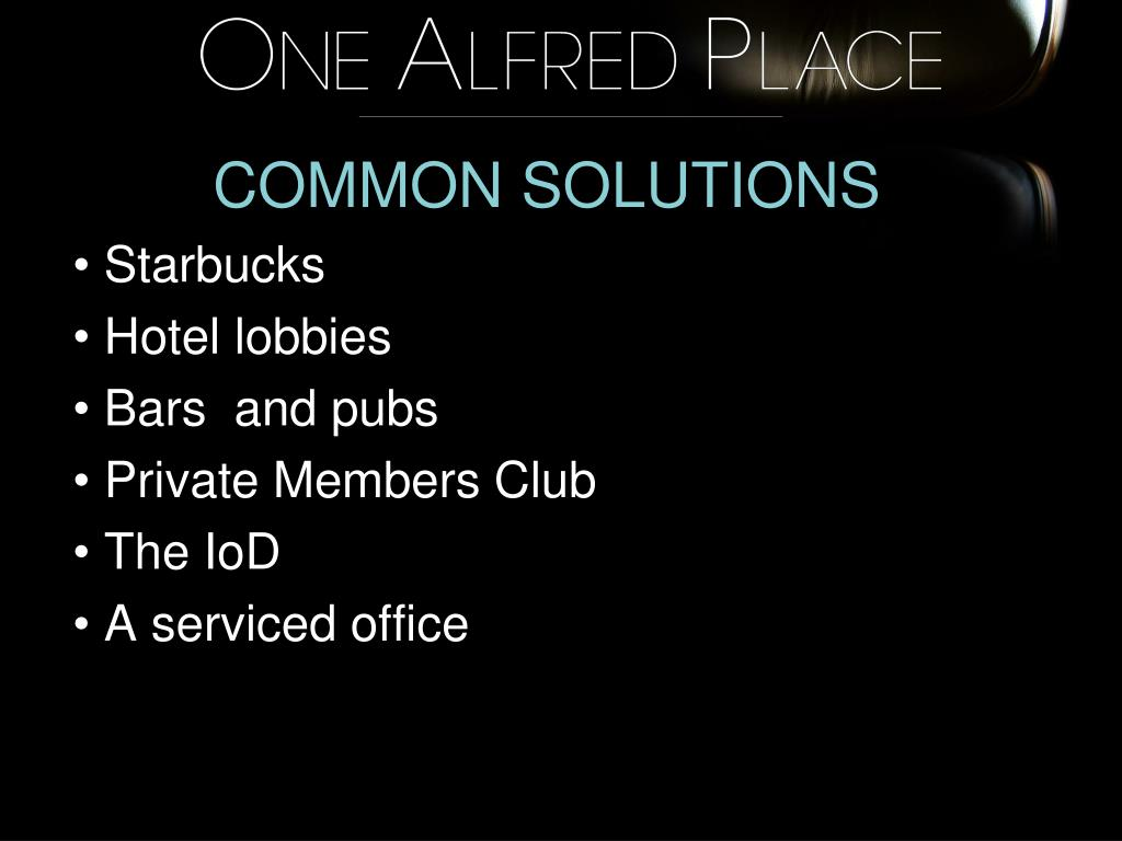 COMMON SOLUTIONS