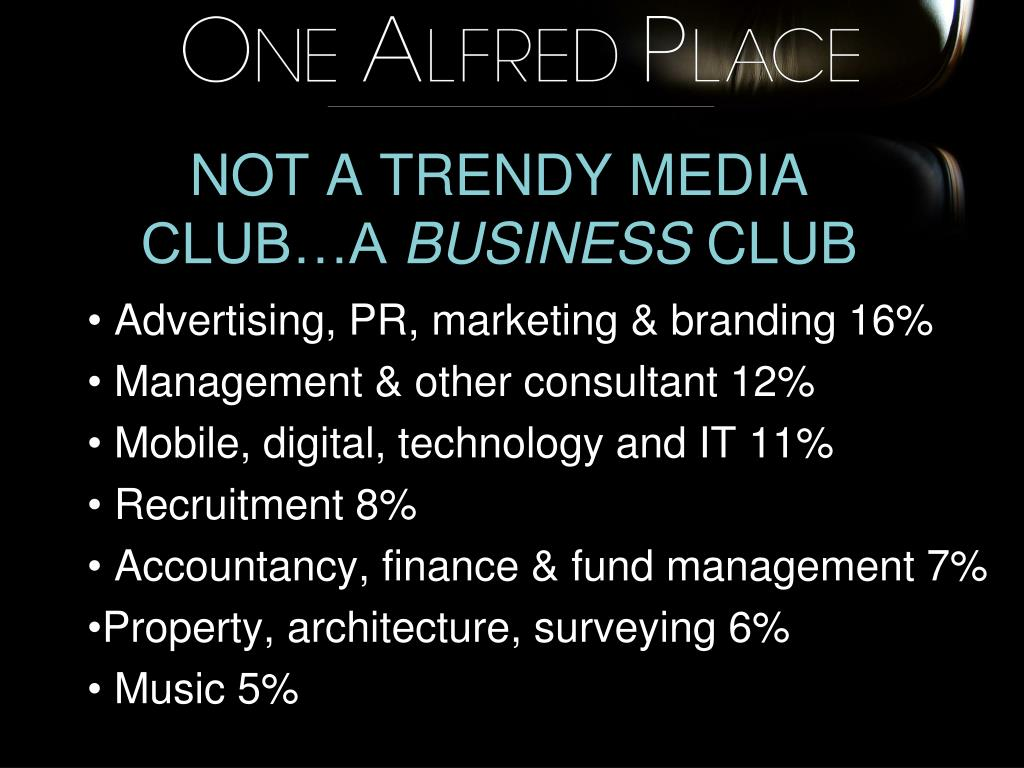 NOT A TRENDY MEDIA CLUB…A