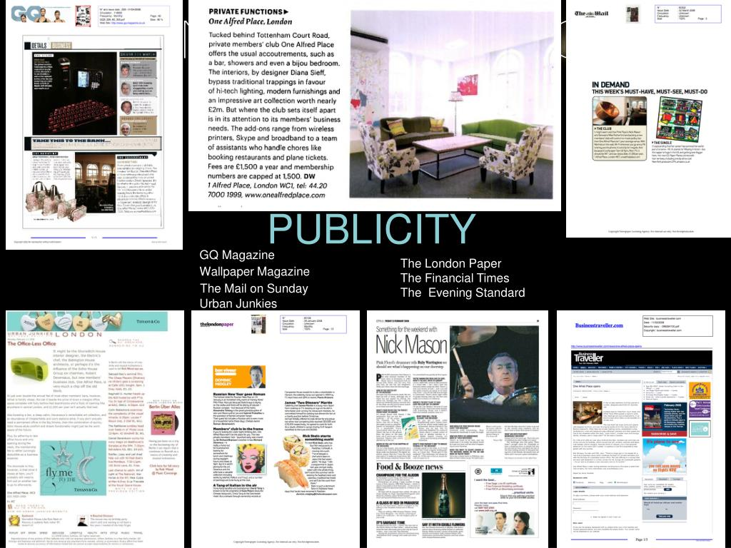 PUBLICITY