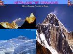 nepal and the himalayas
