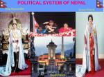 political system of nepal