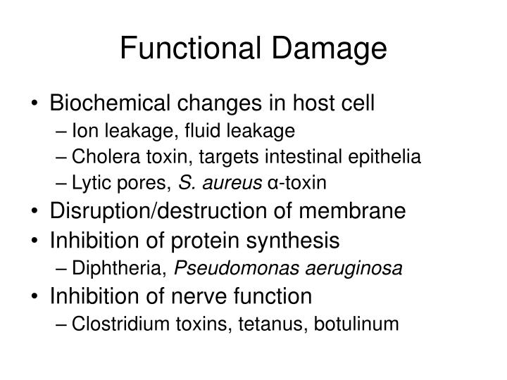 Functional damage