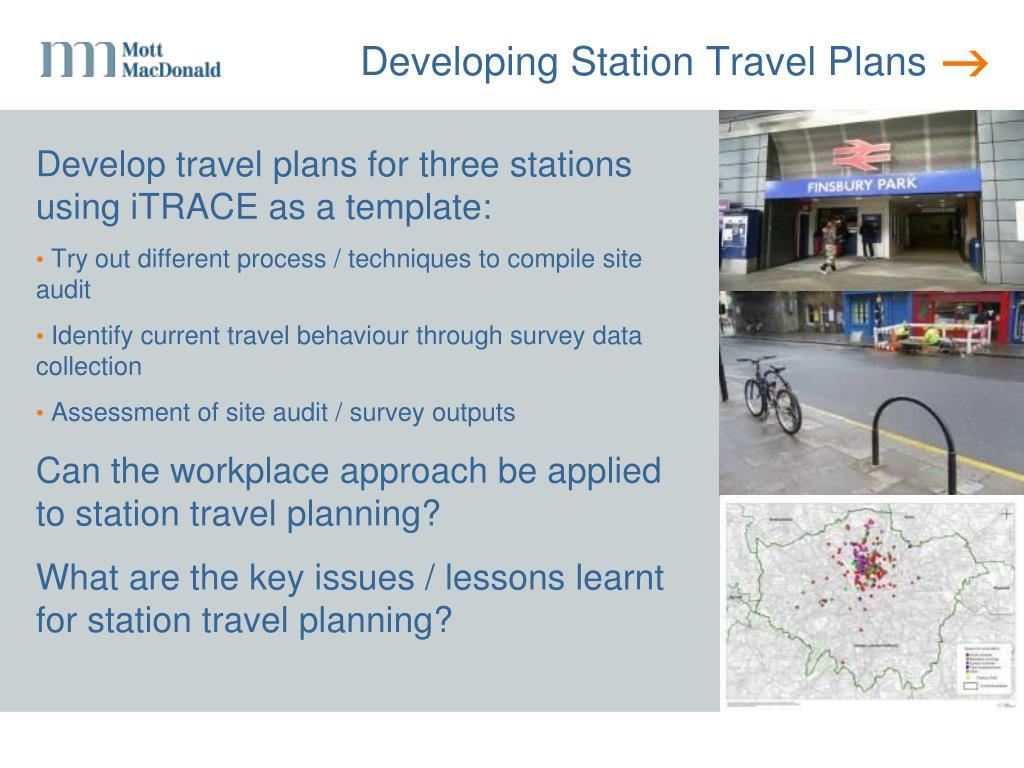 Developing Station Travel Plans