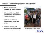 station travel plan project background