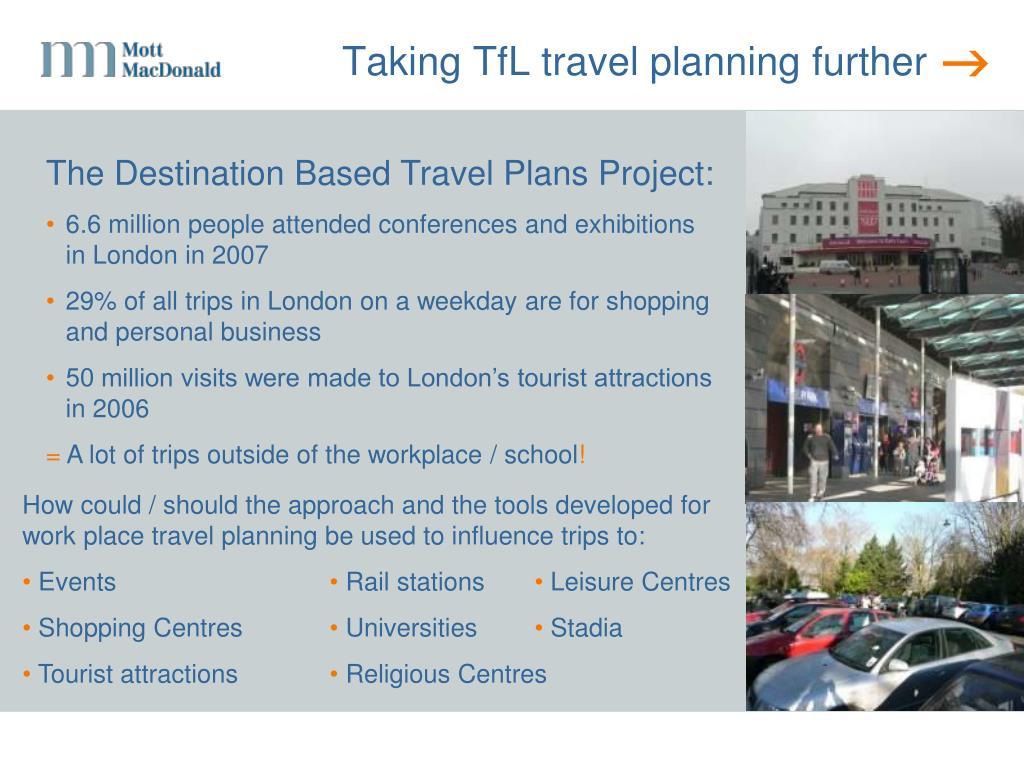 Taking TfL travel planning further