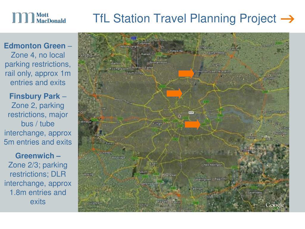 TfL Station Travel Planning Project