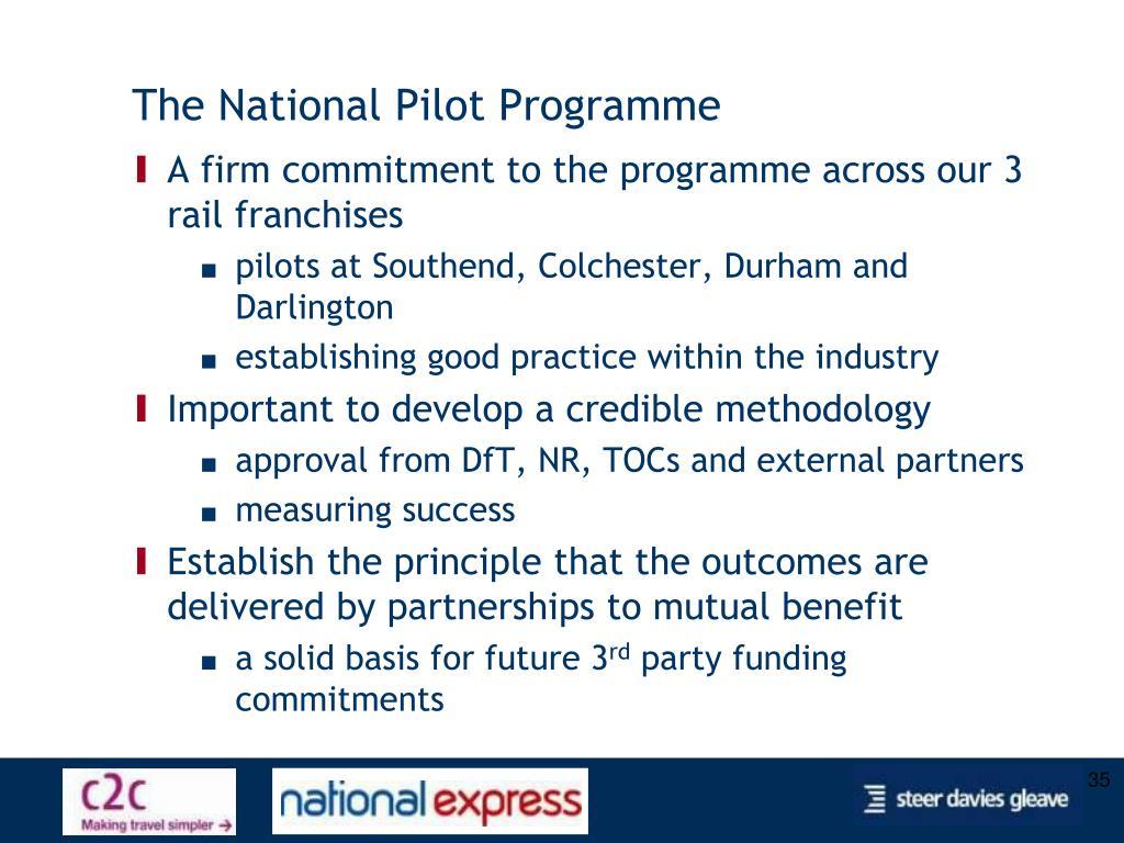 The National Pilot Programme
