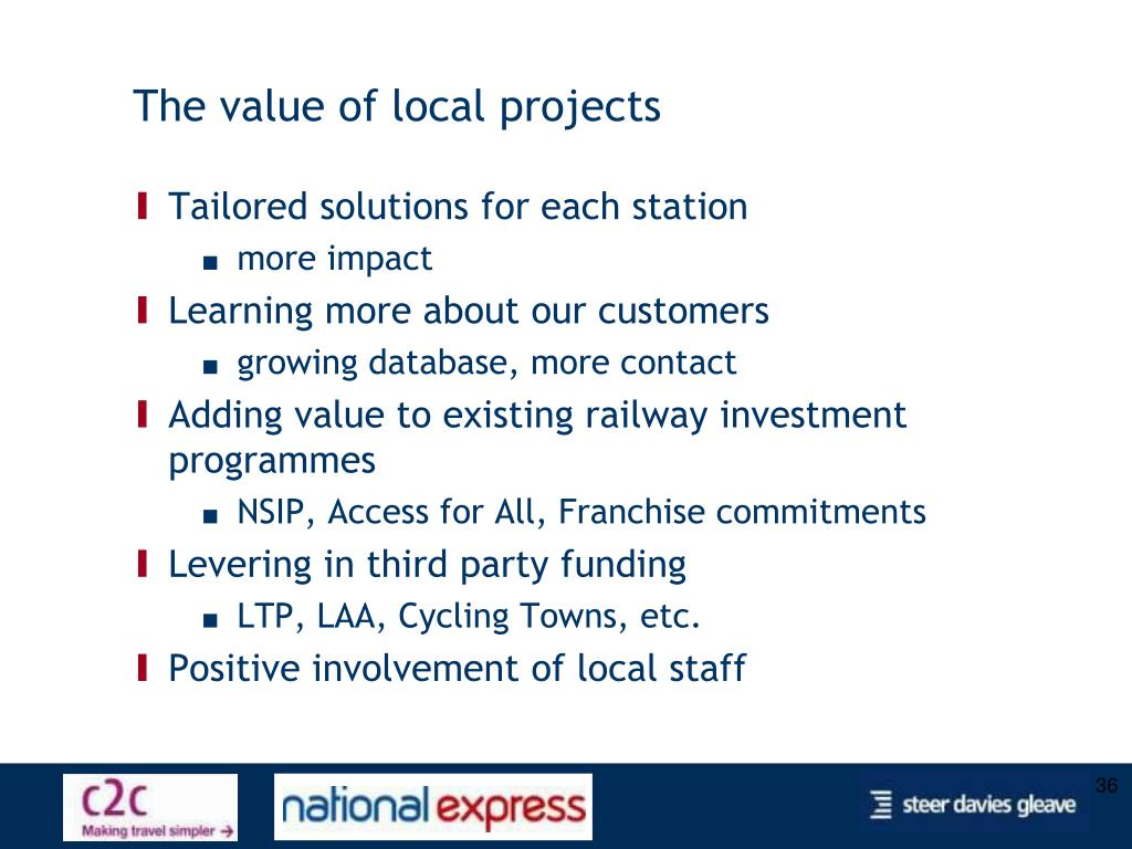 The value of local projects