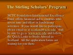 the stirling scholars program