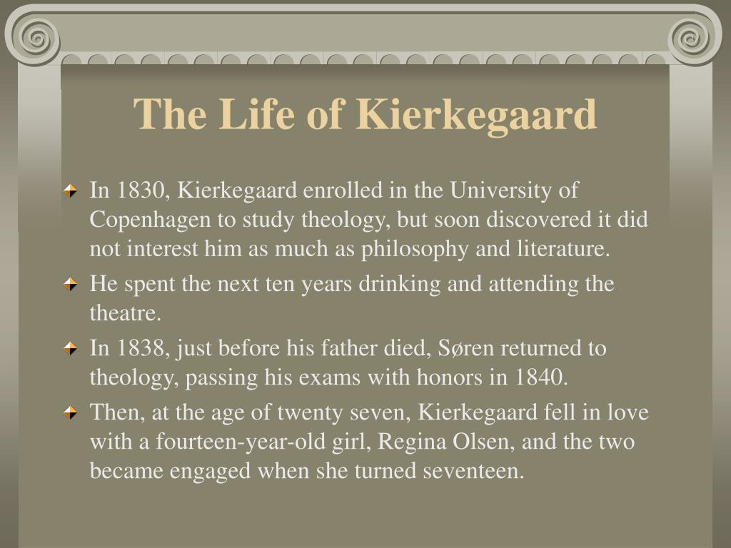 The Life of Kierkegaard