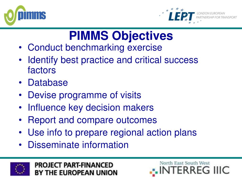 PIMMS Objectives