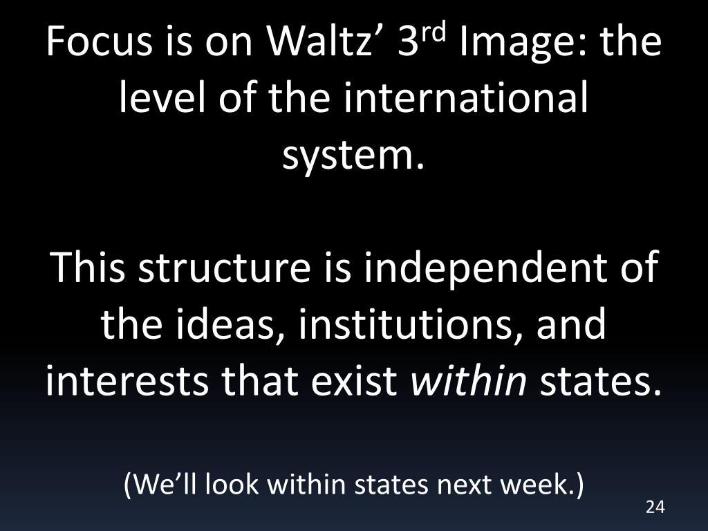 Focus is on Waltz' 3