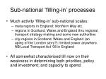 sub national filling in processes
