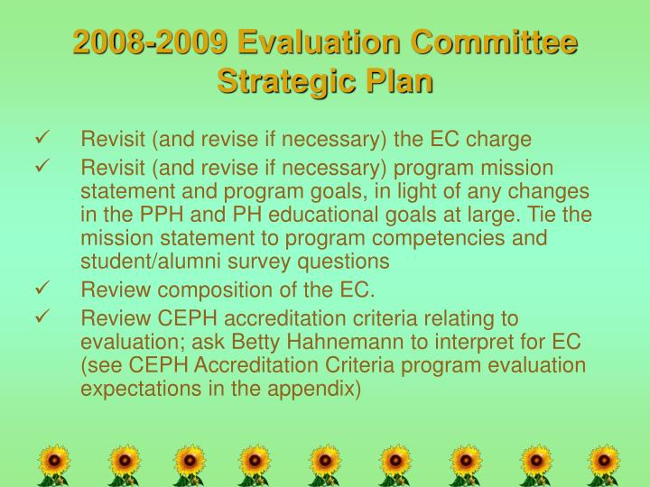 2008-2009 Evaluation Committee