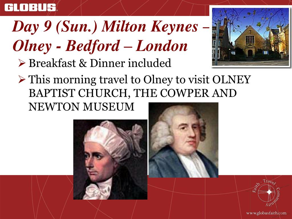 Day 9 (Sun.) Milton Keynes –