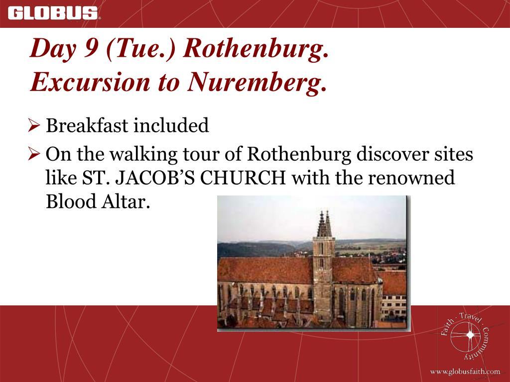 Day 9 (Tue.) Rothenburg.