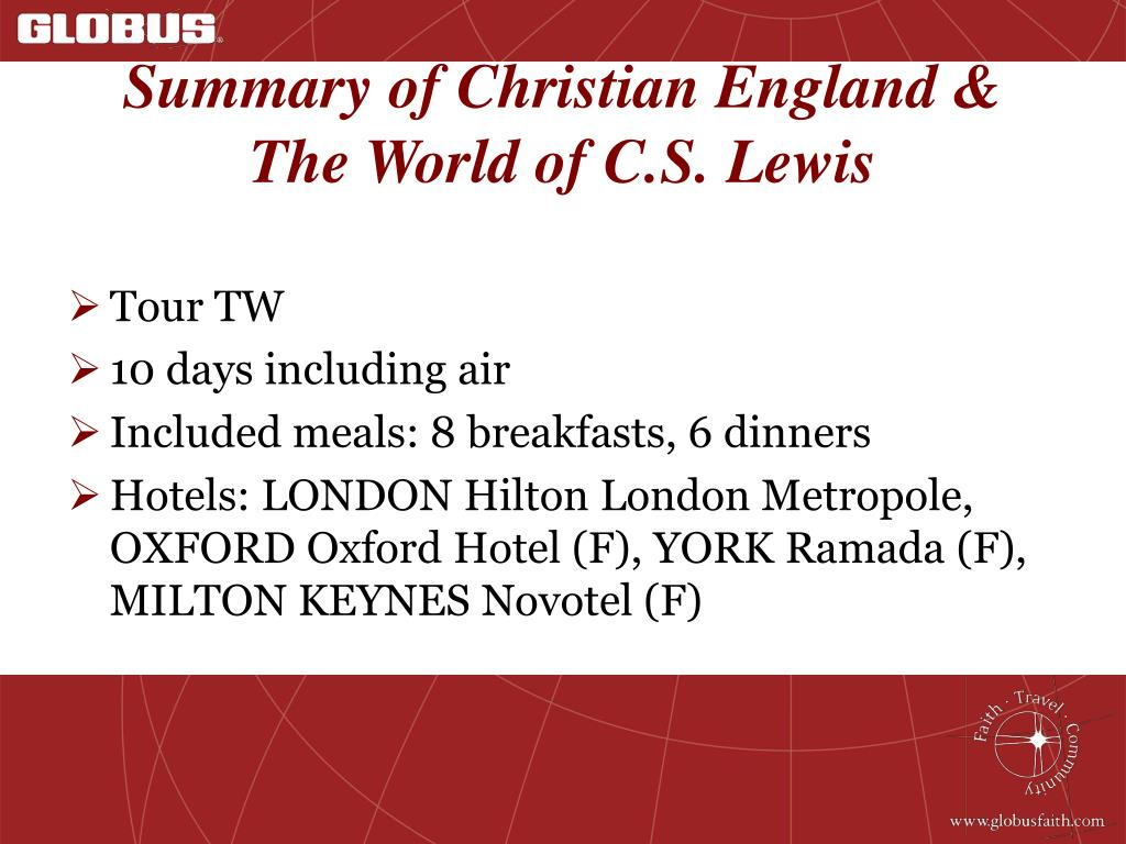 Summary of Christian England & The World of C.S. Lewis