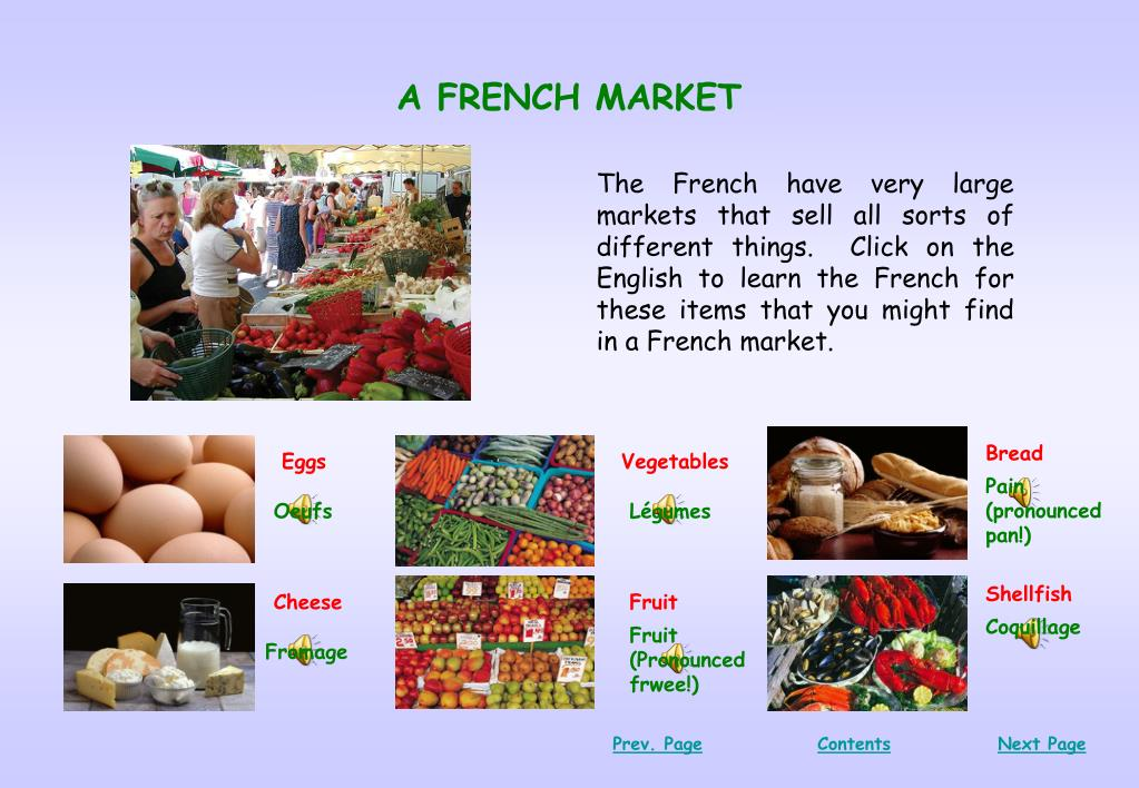 A FRENCH MARKET