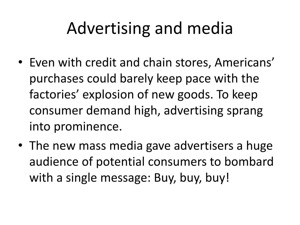 Advertising and media