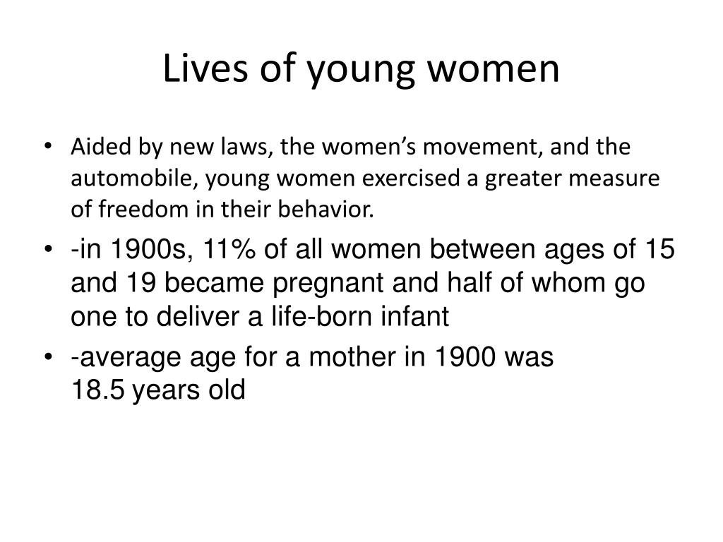 Lives of young women