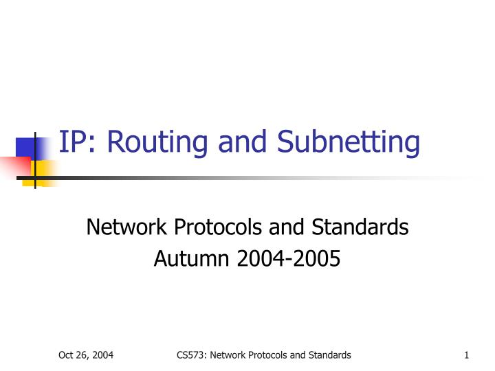 ip routing and subnetting n.