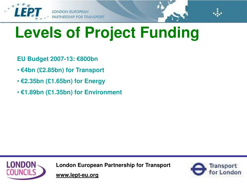 Levels of Project Funding