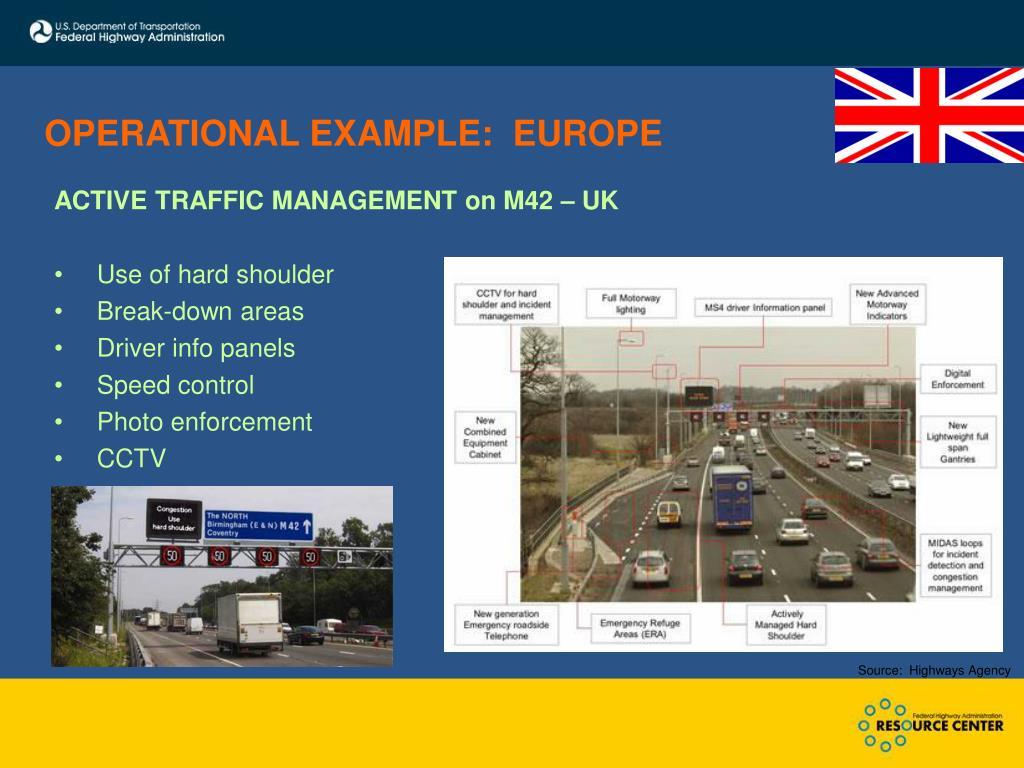 OPERATIONAL EXAMPLE:  EUROPE