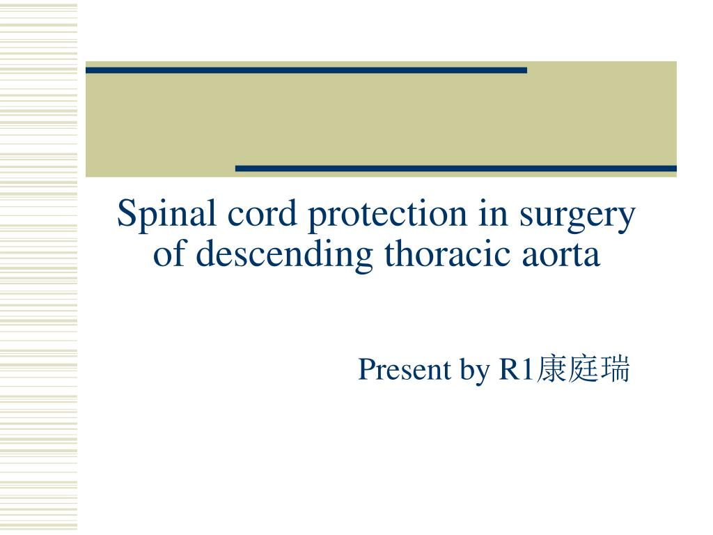 Ppt Spinal Cord Protection In Surgery Of Descending Thoracic Aorta