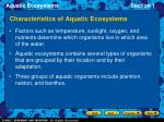 characteristics of aquatic ecosystems