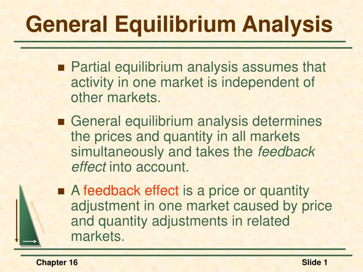 Ppt ch. 11 general equilibrium and the efficiency of perfect.