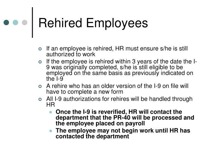 Rehired Employees