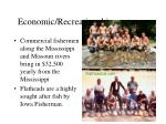 economic recreational importance