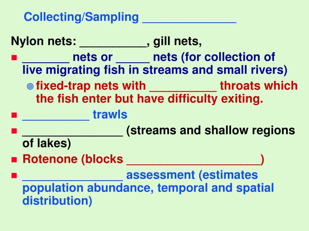Collecting/Sampling ______________