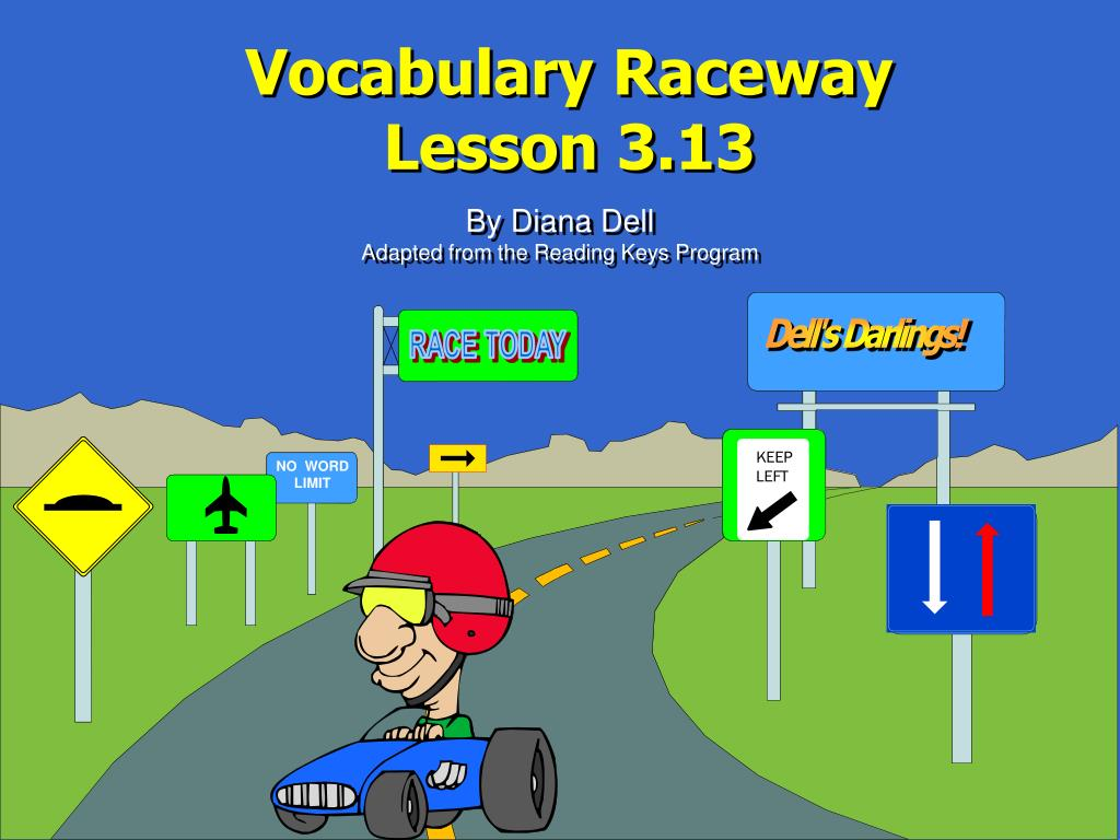 vocabulary raceway lesson 3 13 l.