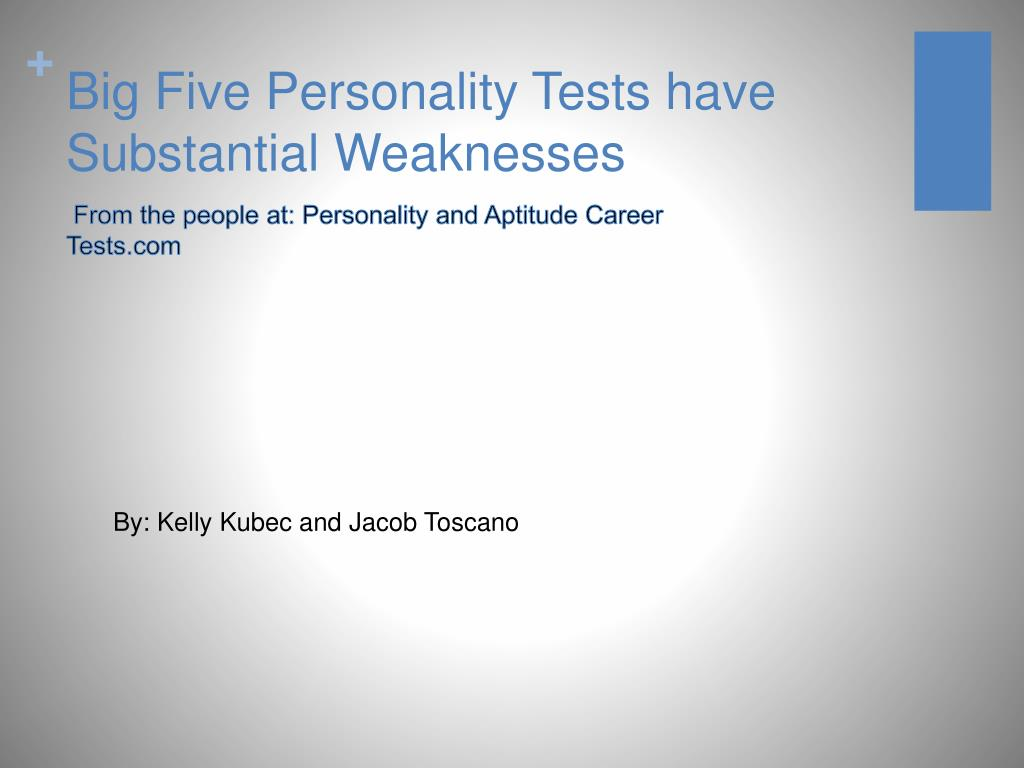big five personality tests have substantial weaknesses l.