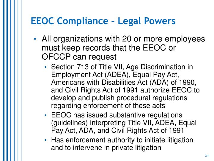 EEOC Compliance – Legal Powers