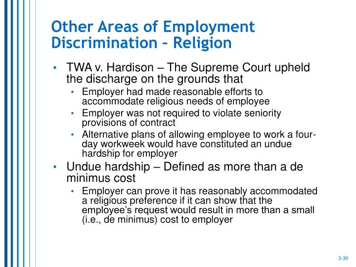 Other Areas of Employment