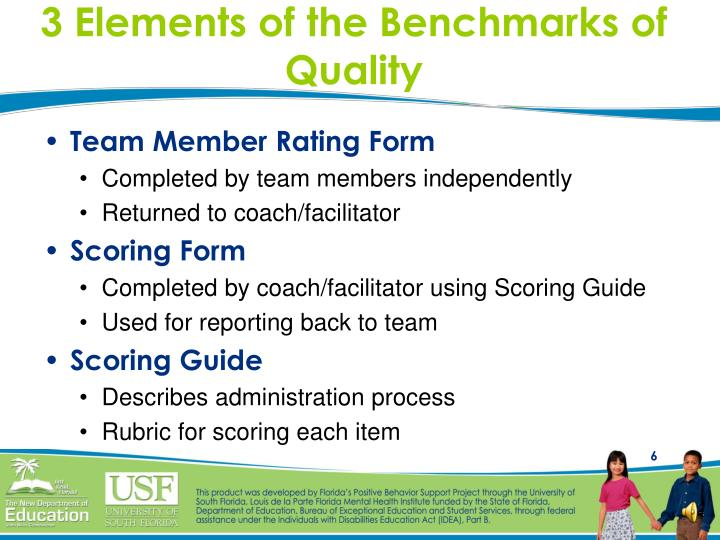3 Elements of the Benchmarks of Quality